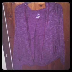 Purple dry fit hoodie